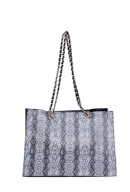 MOGANO tote bag with animal motif, details studded on the sides