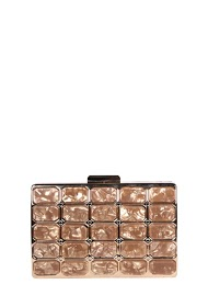 MOGANO chic marbled clutch