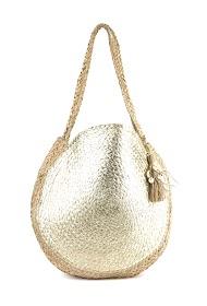 MOGANO große runde tasche mit style sun-vergoldung und muschel