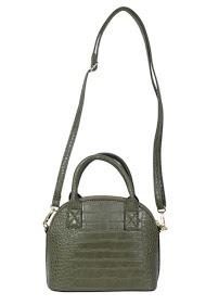 MOGANO small cross-body and croco-print handbag