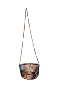 MOGANO small leatherette bag in python and chain