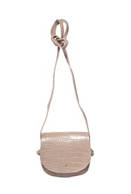 MOGANO small croc style bag with flap