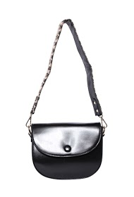 MOGANO leather double flap flap pocket: leopard and simple long