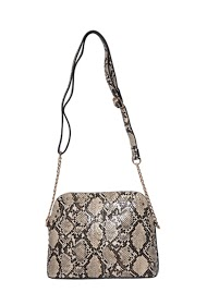 MOGANO snake faux leather clutch