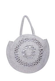 MOGANO openwork bag metallic thread