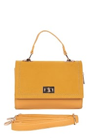 MOGANO crossbody and handbag, studded flap