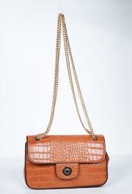 MOGANO croco bag with metal buckle closure