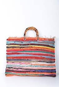 MOGANO tapestry bag with bamboo wrist