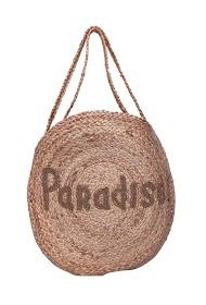MOGANO burlap bag inscription paradise