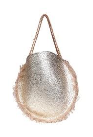 MOGANO metallic burlap bag