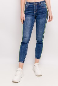 MONDAY PREMIUM jeans with neon side stripes