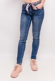 MONDAY PREMIUM jeans with scarf belt