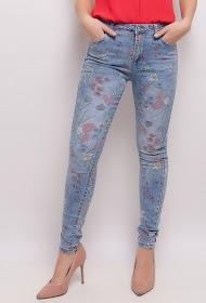 MONDAY PREMIUM trykte jeans