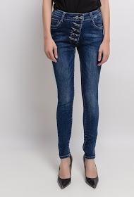 MONDAY PREMIUM jeans skinny abotoado