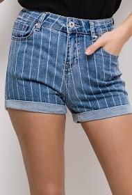 MONDAY PREMIUM gestreifte jeansshorts