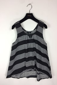 MOODY'S striped tank top