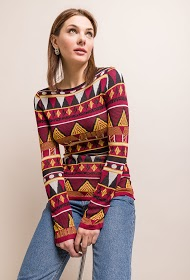 MOODY'S printed sweater