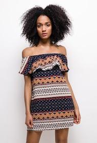 MOODY'S ethnisches kleid mit print