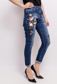MOZZAAR  FOREVER embroidered jeans