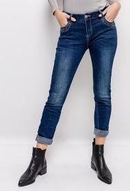 MOZZAAR  FOREVER creased effect jeans