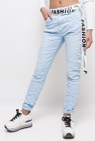 MOZZAAR  FOREVER jeans with belt fashion love