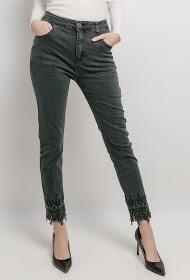 MOZZAAR  FOREVER pantalon avec strass et dentelle