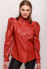 MY STYLE faux leather shirt