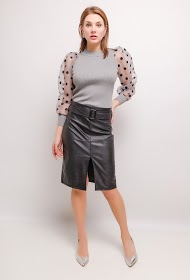 MY STYLE faux leather skirt