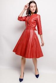 MY STYLE imitation leather dress
