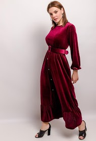 MY STYLE fluwelen jurk