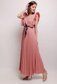 MY STYLE long pleated dress