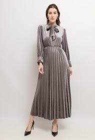 MY STYLE robe midi en velours