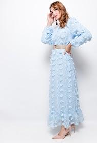MY STYLE vestido texturizado