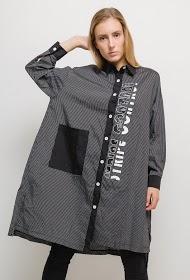 NESLAY veste longue rayée