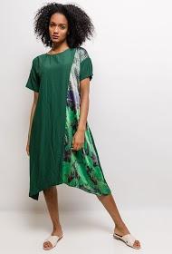 NESLAY dress with printed yoke