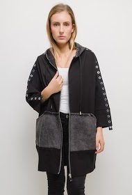 NESLAY bi-material jacket with eyelet