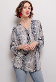 NEW LOLO printed stretch blouse