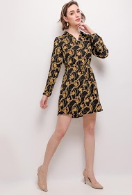 NEW LOLO shirt dress with chain print