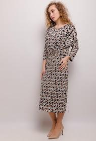 NEW LOLO printed stretch midi dress