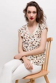 NOÉMIE & CO leopard print blouse