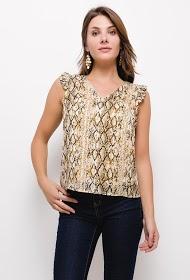NOÉMIE & CO python print blouse