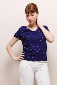 NOÉMIE & CO golden pattern blouse