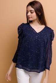 NOÉMIE & CO polka dot blouse