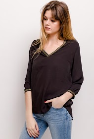 NOÉMIE & CO blouse with golden detail