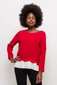 NOÉMIE & CO two-tone blouse