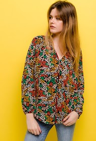 NOÉMIE & CO floral blouse