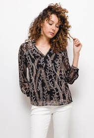 NOÉMIE & CO printed blouse