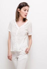 NOÉMIE & CO blouse perforée