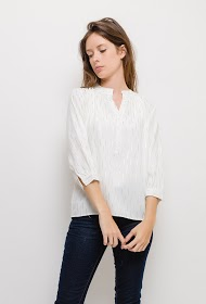 NOÉMIE & CO camisa estampada brilhante