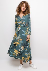 NOÉMIE & CO long dress with printed flowers